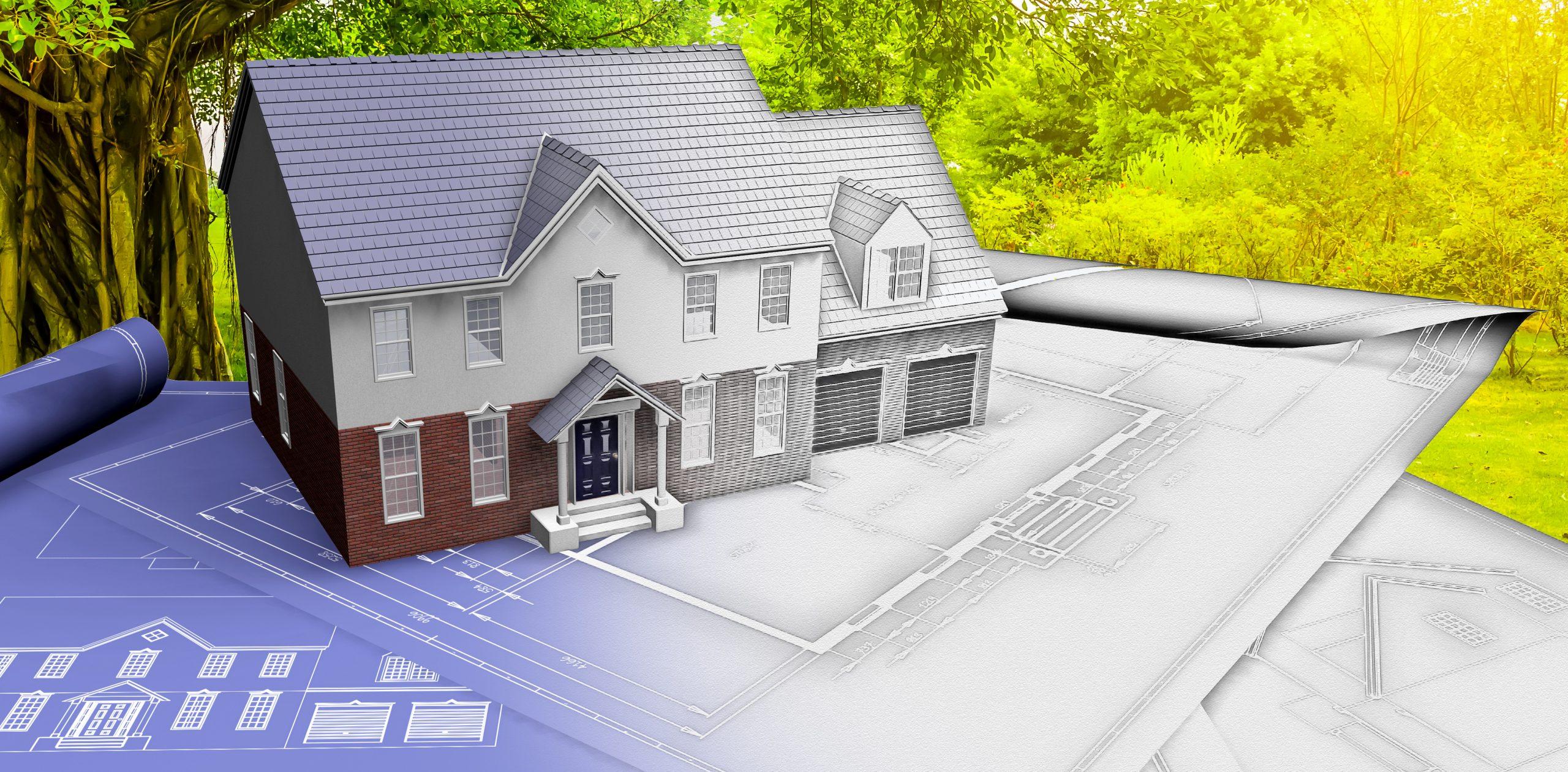 Plan 3D et finition construction maison individuelle Gard