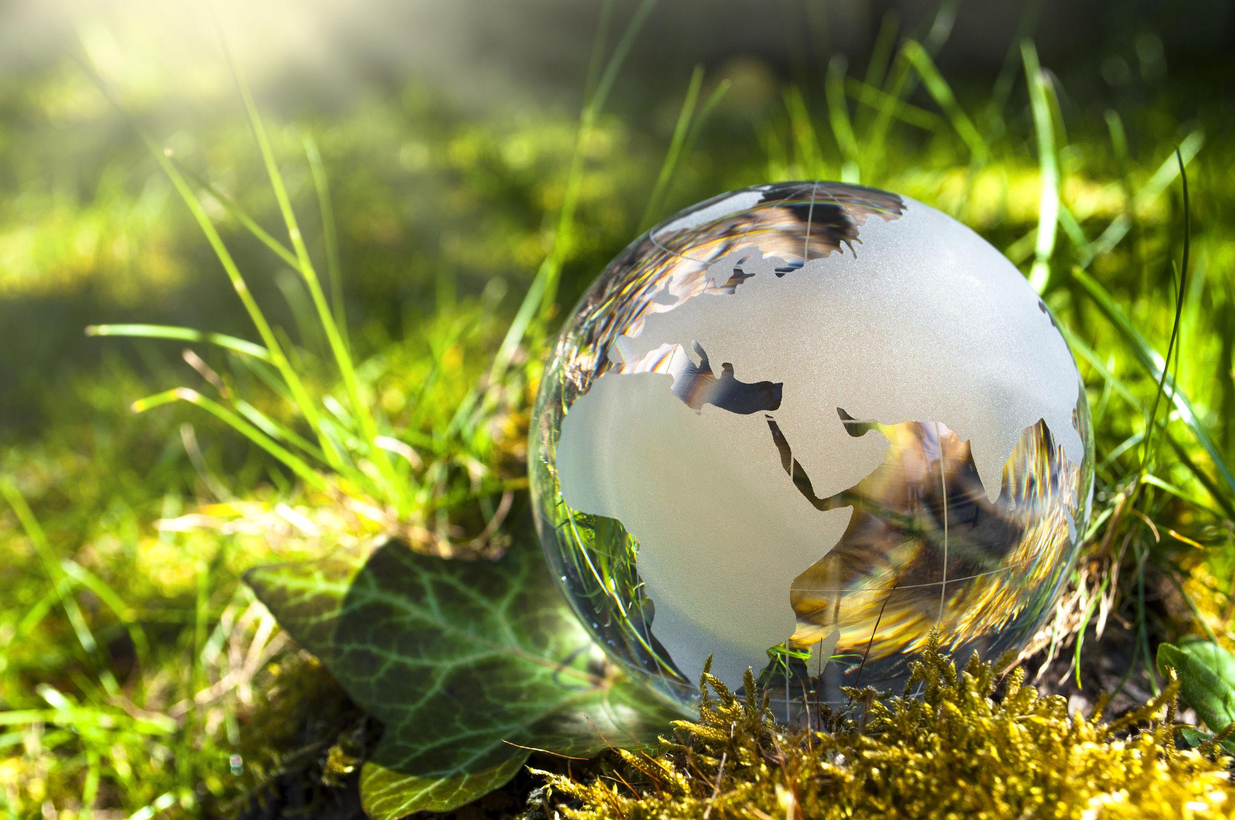 terre_en_verre_sur_l'herbe
